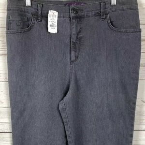 Women's Stretch Gray Tapered Jeans